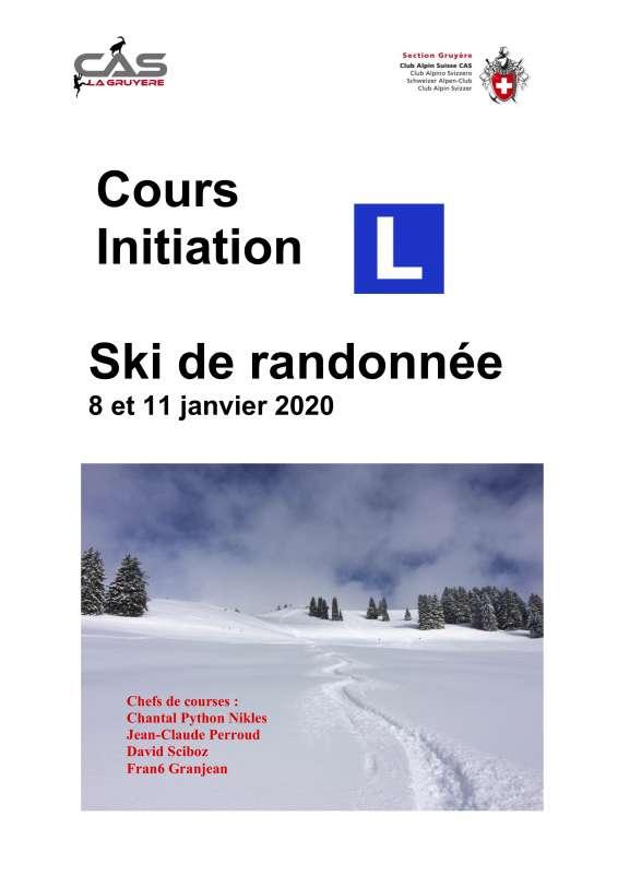 Cours d'initiation  ski de randonnée 8-11-jan 2020
